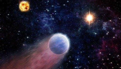 """Излучение вспышек, порождаемых в ходе жизнедеятельности чёрной дыры, может """"сдувать"""" с планет газовые оболочки. Иллюстрация Harvard University."""